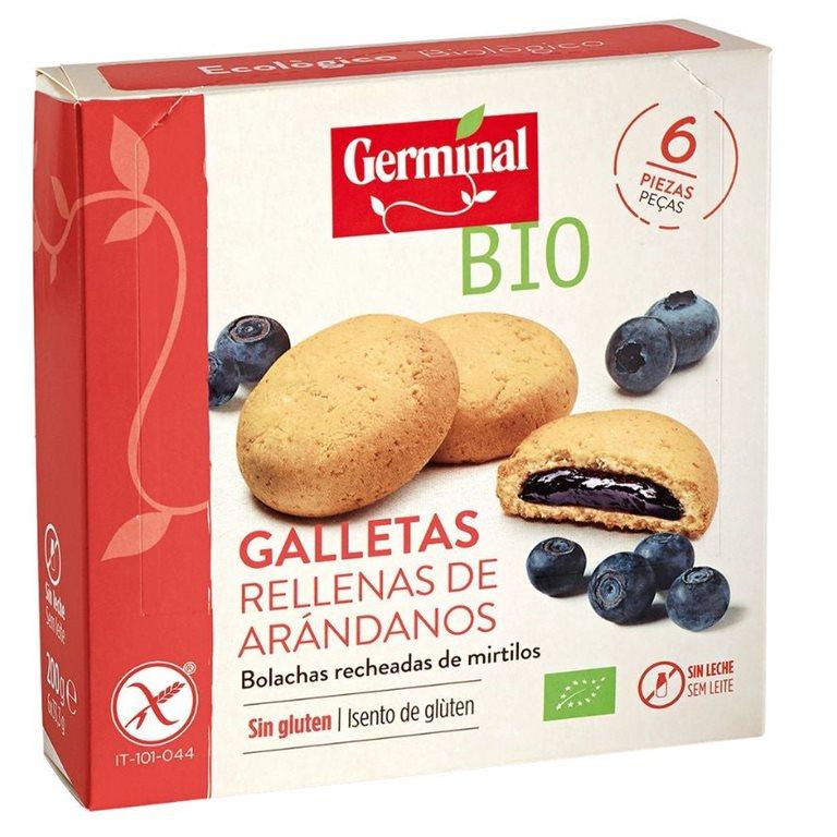 Galletas rellenas de crema de arándanos sin gluten Bio 200g