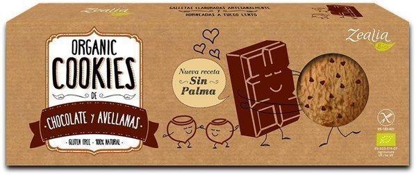 Galletas sin gluten con chocolate y avellanas