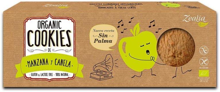 Galletas sin gluten de manzana y canela, 140 gr