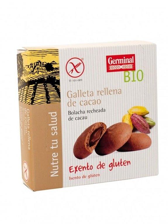 Galletas sin gluten rellenas cacao, 300 gr