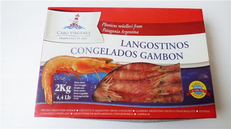 Gamba argentina congelada envase 2k tamaño 20/30