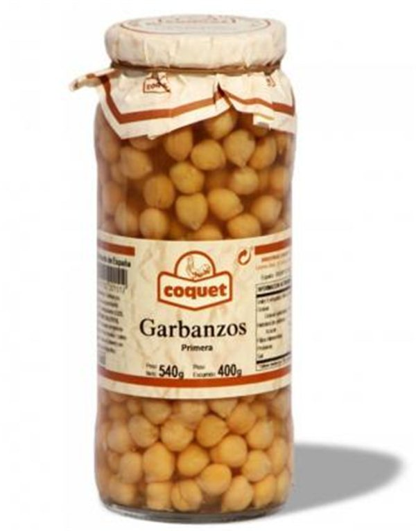 Garbanzos, 540 gr