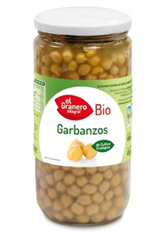 Garbanzos Cocidos Bio 660g