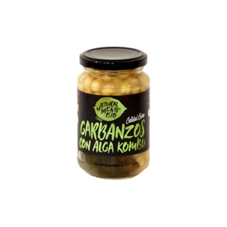 Garbanzos con alga Kombu Naturalmentebio, 1 ud