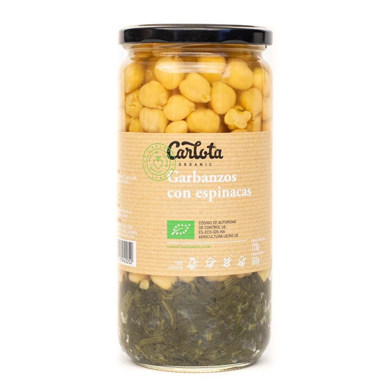 Chickpeas with spinach 720g