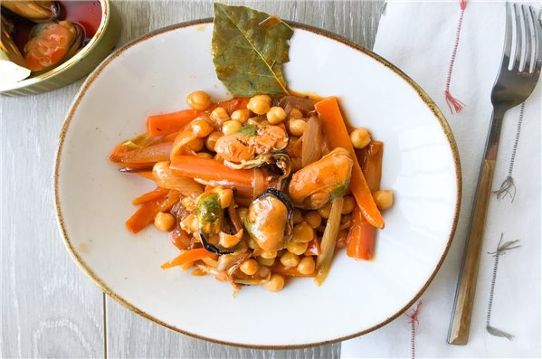 Garbanzos en escabeche