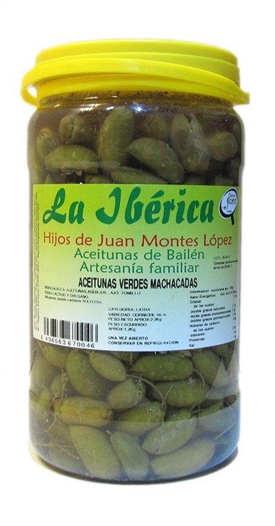 Aceitunas de cornezuelo La Ibérica. 1,2 Kg
