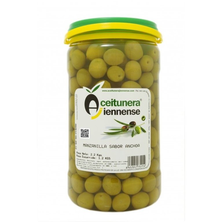 Aceitunas manzanilla deshuesada. 1,2 kg., 1 ud