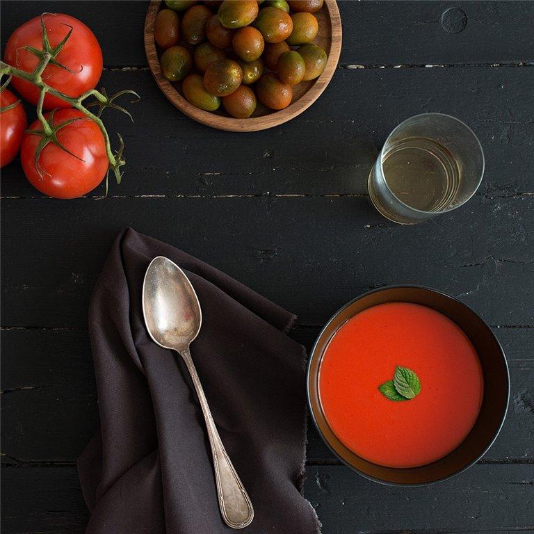 Gazpacho andaluz con sandía - 300 g.