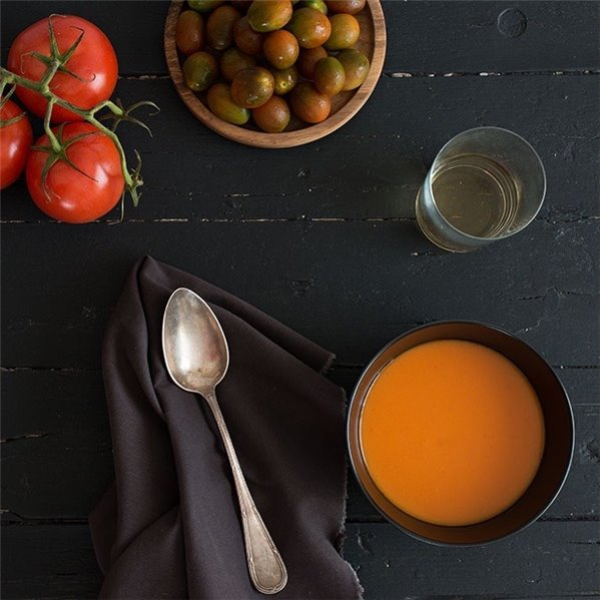 Gazpacho andaluz con sandía