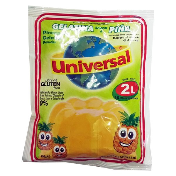 GELATINA UNIVERSAL PIÑA  150 GR(2L)
