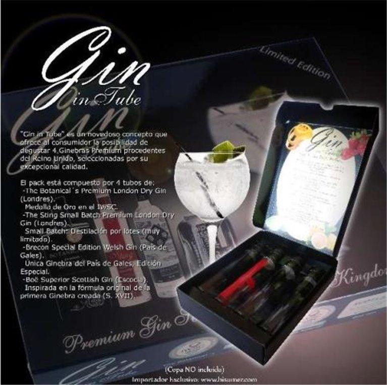 Gin in Tube Pack 4 x 50 ml, 1 ud
