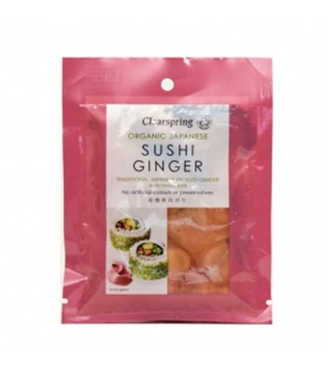 Ginger para sushi 50gr. Clearspring. 10un.