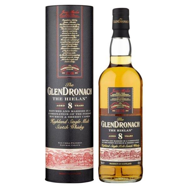 GLENDRONACH 8 YO THE HIELAN 0,70 L.