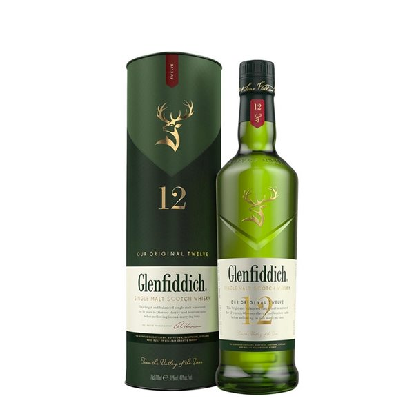 Glenfiddich Single Malt Scotch Whisky 12 años 70 cl