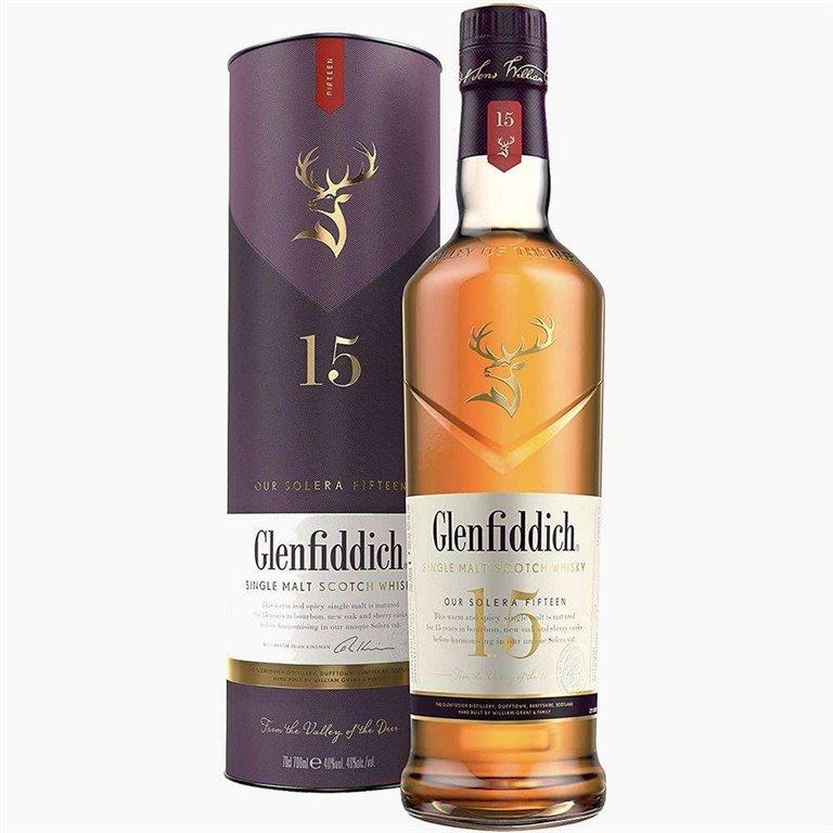 Glenfiddich Single Malt Scotch Whisky 15 años 70 cl