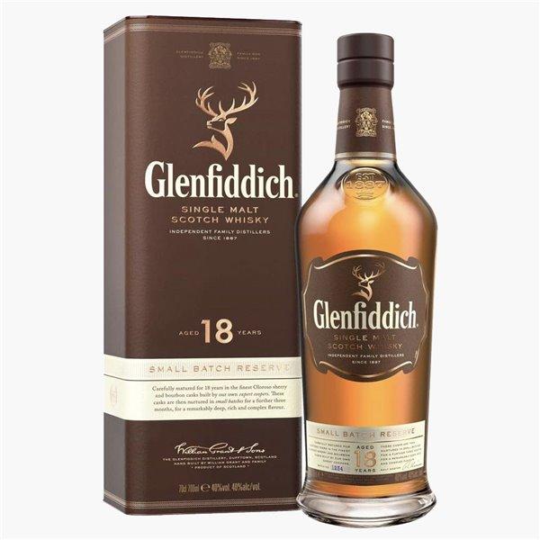 Glenfiddich Single Malt Scotch Whisky 18 años 70 cl