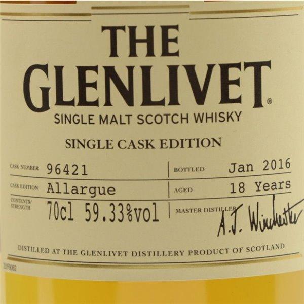 GLENLIVET 18 YO ALLARGUE 0,70 L. + ESTUCHE