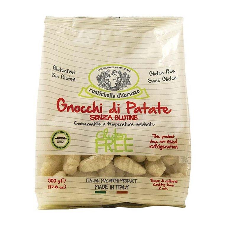 Gnocchi de Patatas Sin Gluten 500gr. Rustichella D'abruzzo. 12un., 1 ud