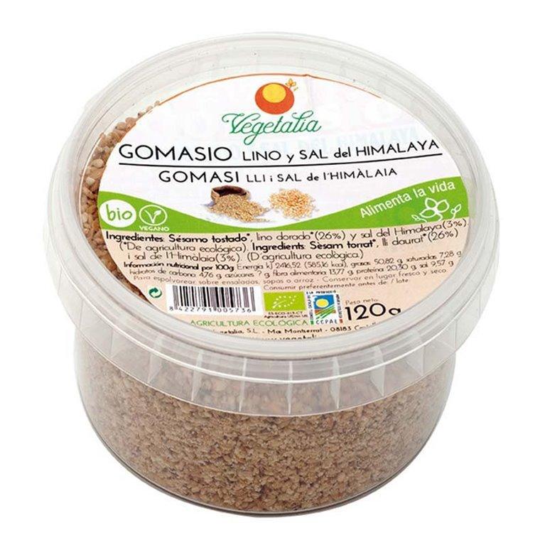 Gomasio con Lino Dorado y Sal del Himalaya Bio 120g, 1 ud