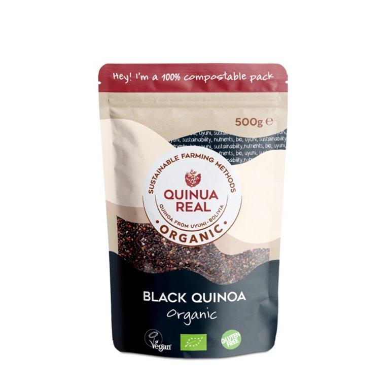 Fairtrade Organic Royal Black Quinoa Grain 500g