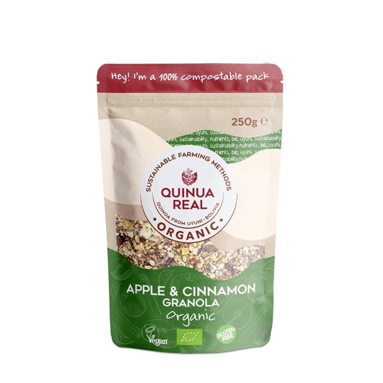 Granola de Quinoa Real con Manzana y Canela Sin Gluten Bio 250g