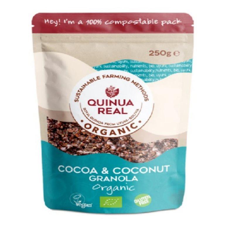 Granola de Quinua Real con Cacao y Coco Sin Gluten Bio 360g