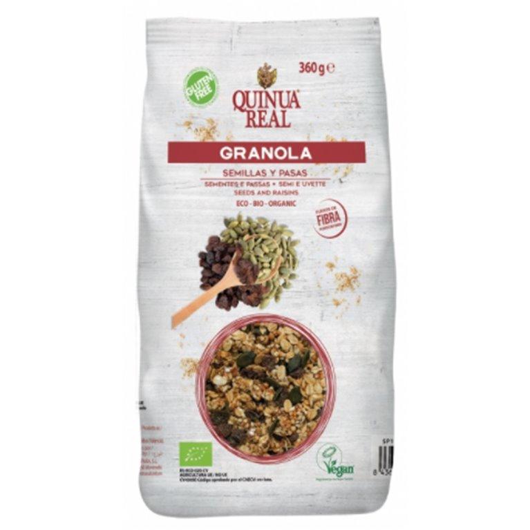 Granola de Quinua Real con Semillas y Pasas Sin Gluten Bio 360g