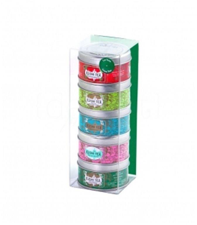 Green Teas Selection 5x25gr. Kusmi Tea. 10un.