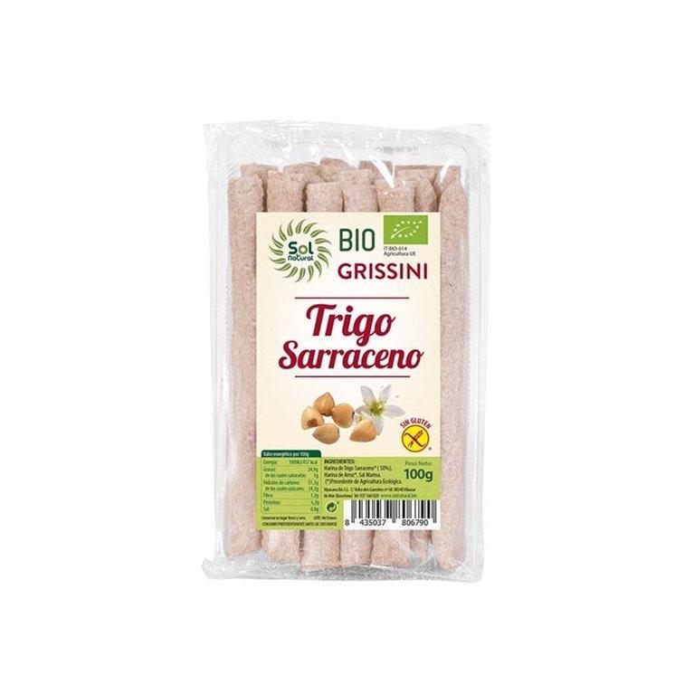 Grissini de Trigo Sarraceno Sin Gluten Bio 100g