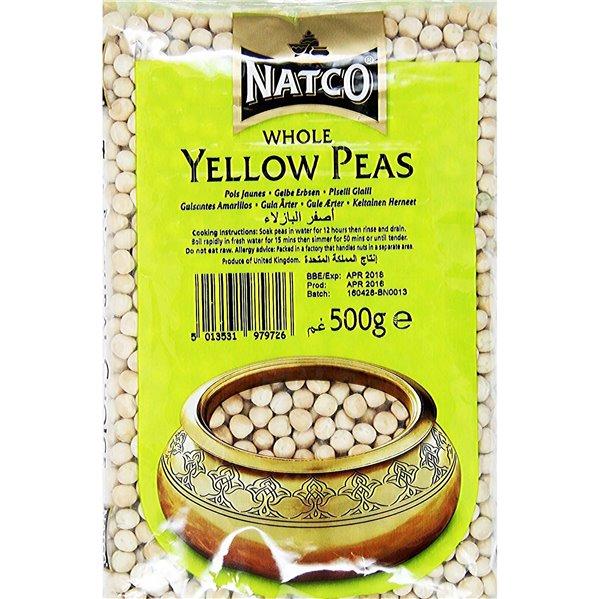 Guisantes Amarillos Pelados (Pisum Sativum) | Whole yellow peas - Natco 500g