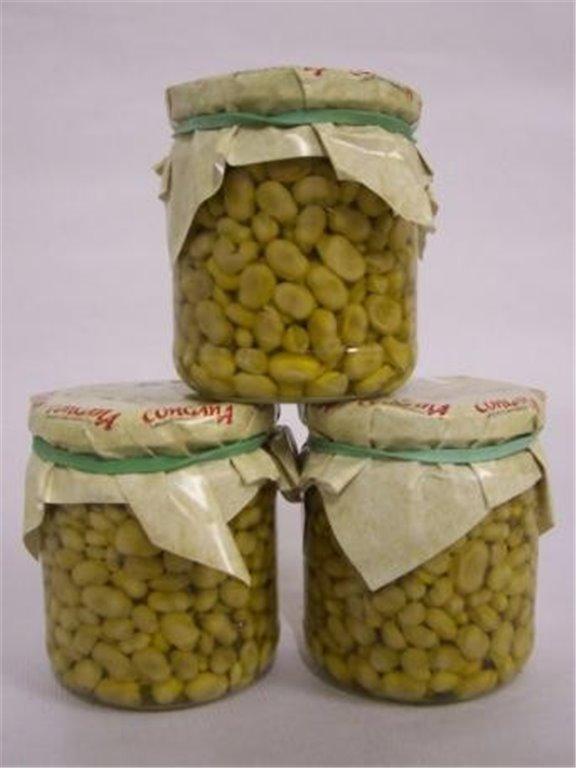 Habas mini baby fritas en aceite de oliva. Bote de 370 gr., 1 ud
