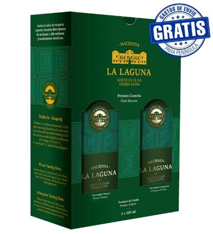 Hacienda La Laguna. Estuche Diafanea Edición Limitada. 2 x 500 ml.