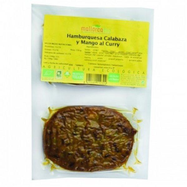 Hamburguesa Seitan Arroz Rojo Calabaza Mango Al Curry