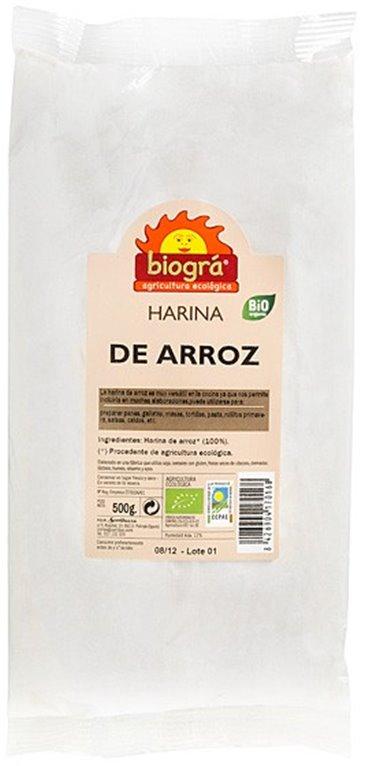 Harina de Arroz Blanco Bio 500g, 1 ud