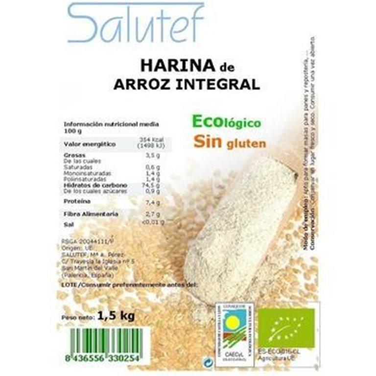 Harina de Arroz Integral Bio 1,5kg, 1 ud