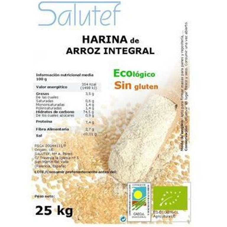 Harina de Arroz Integral Bio 25kg