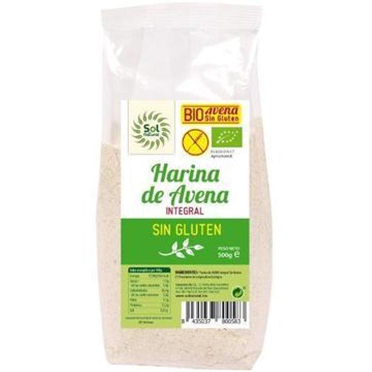 Harina de Avena Integral Sin Gluten Bio 3kg (6 x 500g), 1 ud