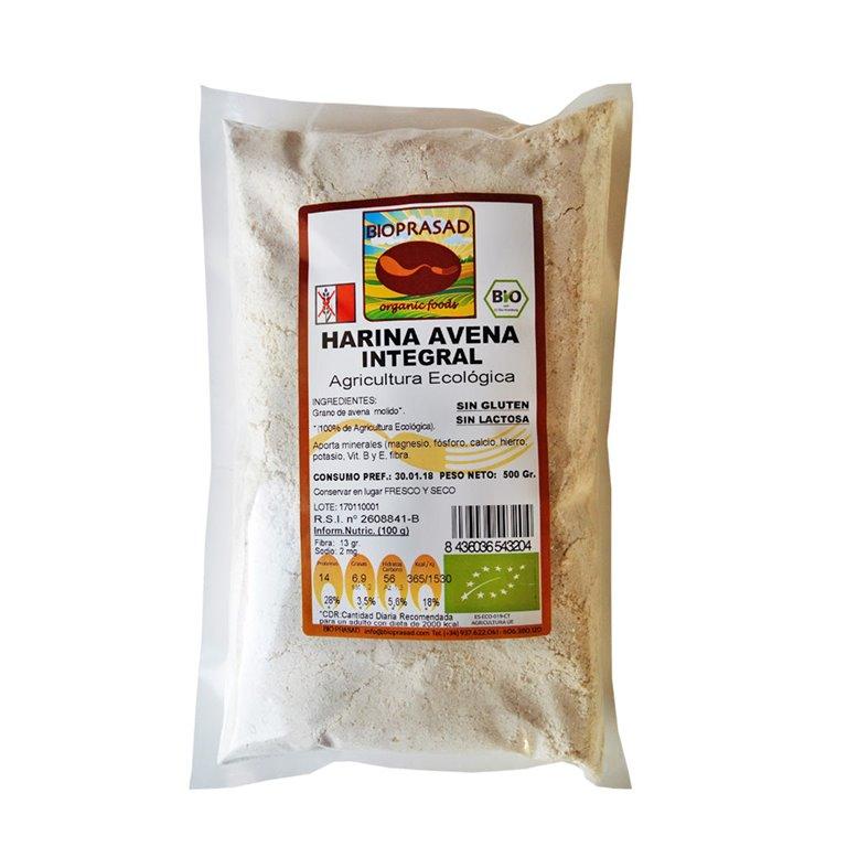 Harina de Avena Integral Sin Gluten Bio 500g