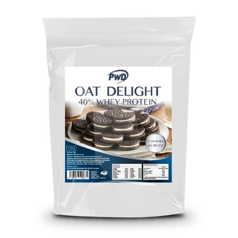 Harina de Avena Sabor Cookies y Crema 40% Whey Protein 1,5kg