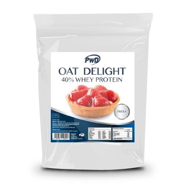 Harina de Avena Sabor Fresa 40% Whey Protein 1,5kg