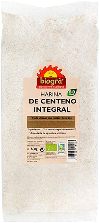Harina de Centeno Integral Bio 500g, 1 ud