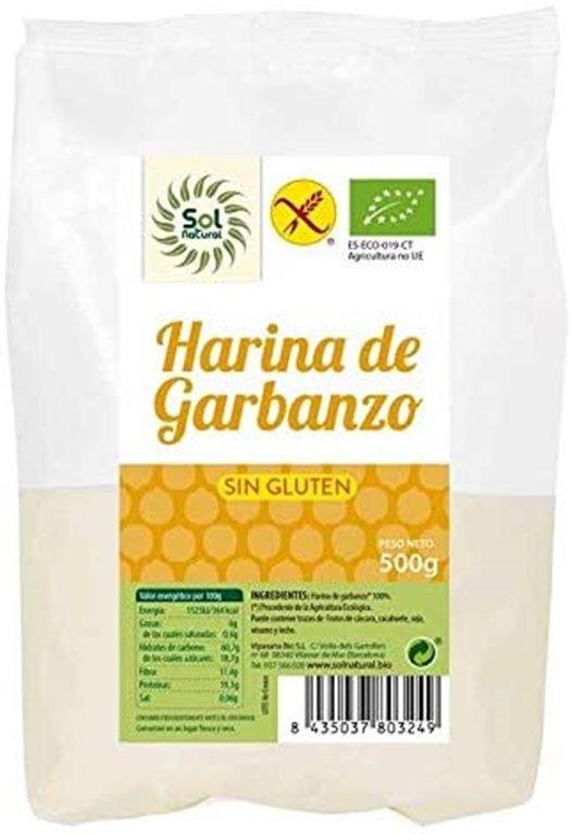 Harina de garbanzo Solnatural sin gluten