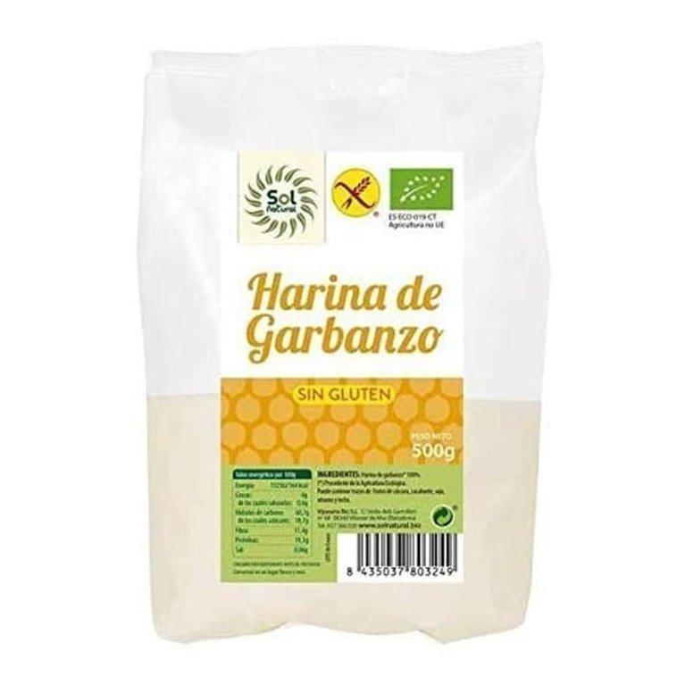 Harina de garbanzon sin gluten BIO Solnatural 500g