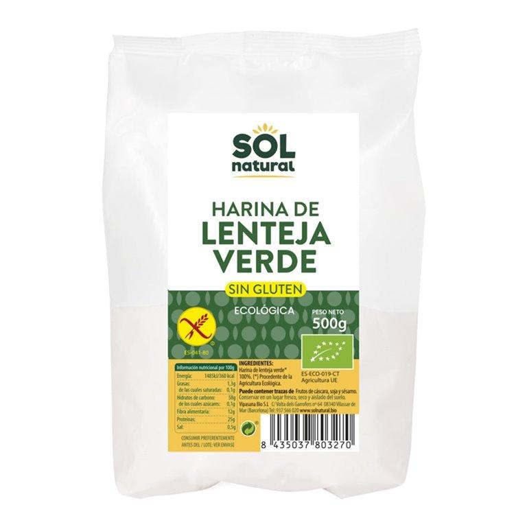 Harina de Lenteja Verde Bio 500g