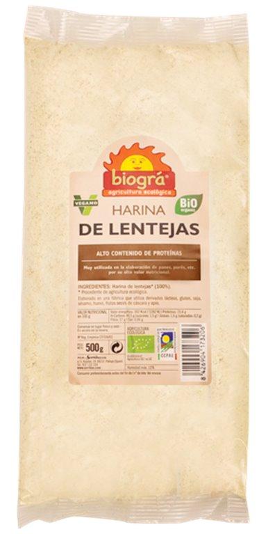 Harina de Lentejas Bio 500g, 1 ud