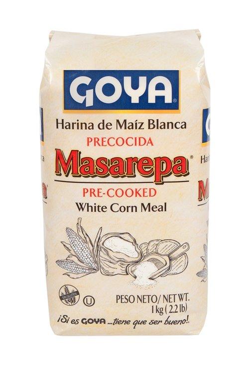 Harina de Maíz Blanco para Arepas Sin Gluten (Masarepa) 1kg, 1 ud