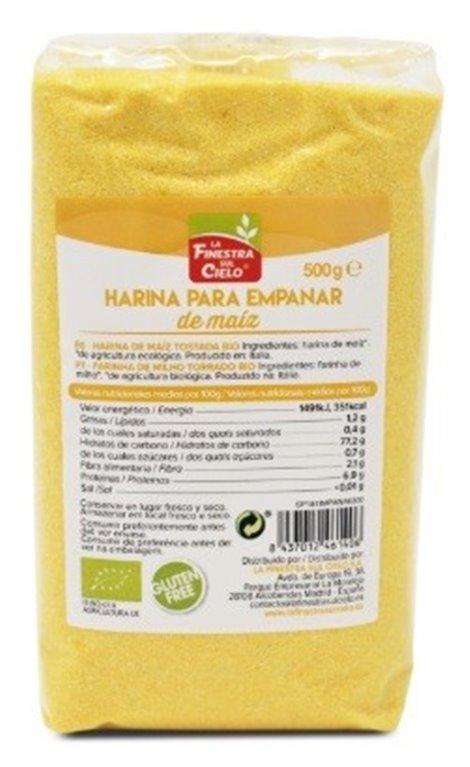Harina de Maíz para Empanar (Pan Rallado) Bio 500g