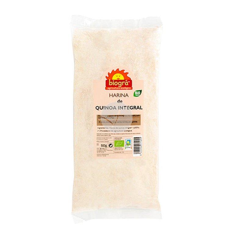 Harina de Quinoa integral ecológica 500g, 1 ud
