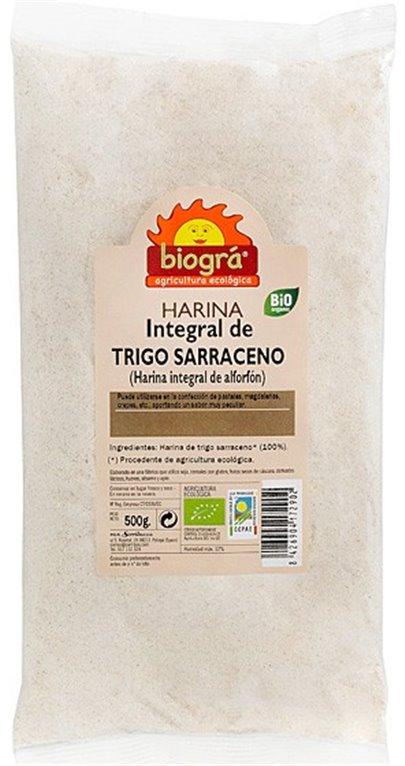 Harina de Trigo Sarraceno Bio 500g, 1 ud